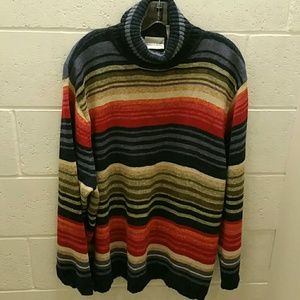 Striped cotton blend sweater. Size 26/28